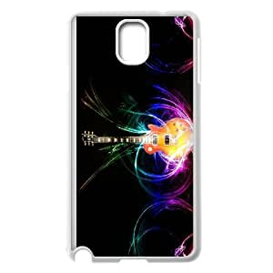 [Tony-Wilson Phone Case] For Samsung Galaxy NOTE4 -IKAI0446666-Love Guitar Pattern