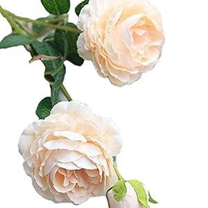 MARJON Flowers3 Heads/Branch Artificial Peony Flower Fake Leaf Cloth Wedding Bouquet Flowers Party Garden DIY Decoration 106