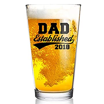 Shop4Ever Daddy Needs A Beer Laser Engraved Beer Pint Glass ~ Fathers Day Gift ~ Clear, 16 oz.