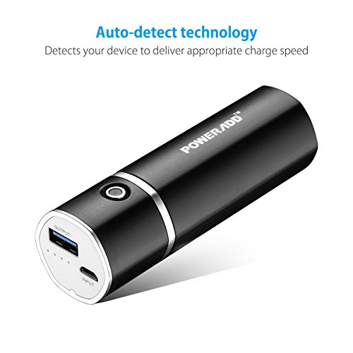 Poweradd Slim2 mega useful 5000mAh moveable Charger External Battery vitality Bank by using ID Identify systems for iPhone iPad Samsung Galaxy and a great dea Black Popular selections