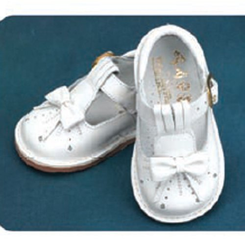 Angels Garment White Shoe Size 6 Toddler Girl Bow T Strap from Angels Garment