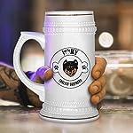 Custom Beer Mug I Love Paw My English Shepherd Dog Ceramic Drinking Glasses Beer Gifts White 18 OZ Design Only 11