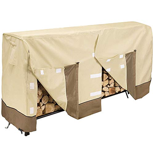 Give Me Heavy Duty Log Rack Cover 8FT, Waterproof Firewood Cover Outdoor Fits L96 x W24 x H42 Inches