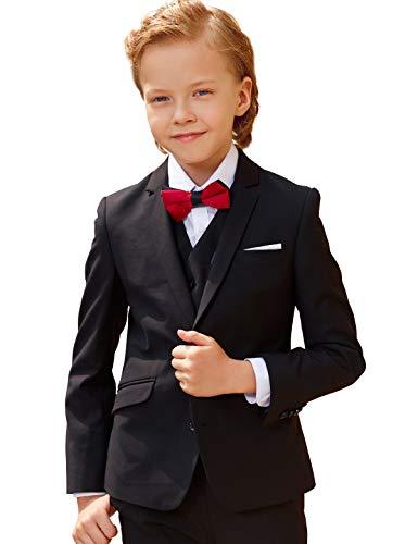ELPA ELPA Boys Suits Slim Fit Formal Suit Set 6 Pieces Wool Blend Suits for Boys -