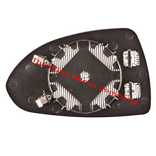 The Wing Mirror Company GP311-VC Heated, Silver Aspheric Door / Wing Mirror Glass Including Base Plate RH(Driver Side)