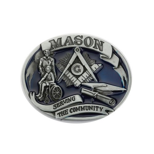 Buckle Seal (Masonic Seal G Vintage Masonic Seal G Mason Secret Society Men'S Leather Belt Buckle Super Lot)