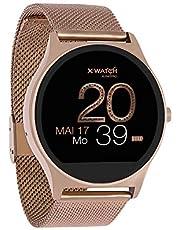 X-Watch 54029 Joli Xw Pro, Dames Smartwatch, Ios, Stappenteller Horloge, Fitness, Roségoud