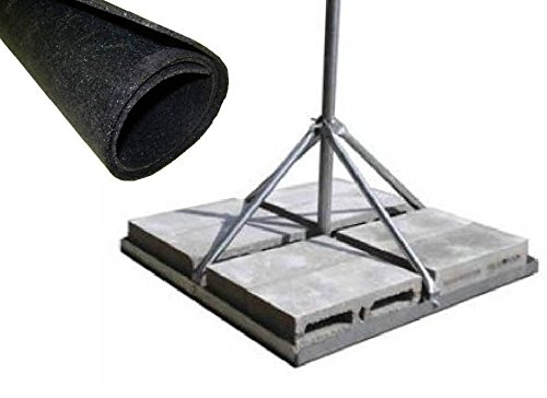 ROHN FRM238SP5 Non-Penetrating Roof Mount Bundle - 2.38'' x 0.154'' Wall x 60'' Galvanized Mast + Rohn FRMMAT Roof Mat by ROHN