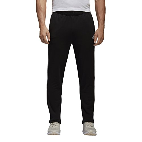 (adidas Men's Essentials 3-Stripes Tapered Training Pants (S,)