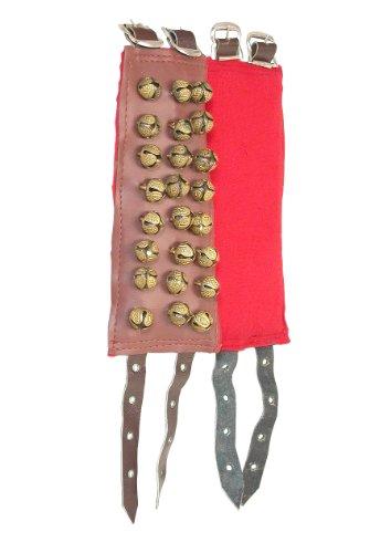 [해외]중동 발목 종, 징글 스타일 3 줄 버클 (패키지 2 개)/Mid-East Ankle Bells, Jingle Style 3-Rows with buckles (Package Of 2)