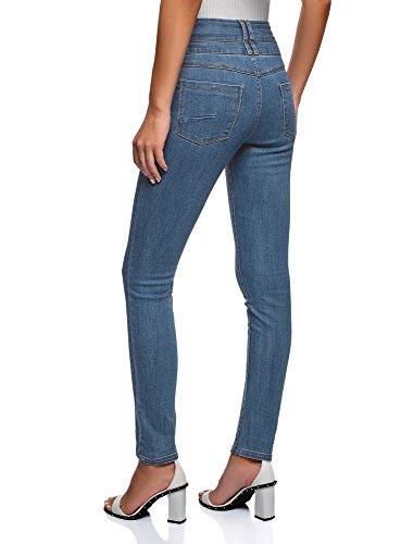 Vaqueros Alta Ultra Skinny Cintura de Mujer 7500w Azul oodji 4qgBnzvn