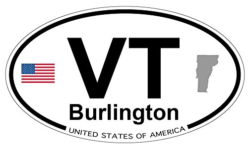 Burlington, Vermont Oval Magnet