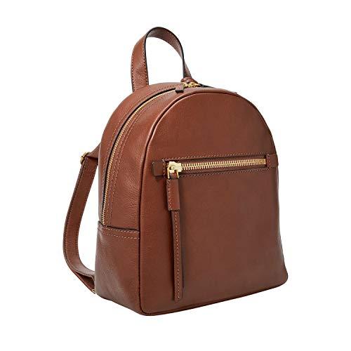 Fossil Women's Megan Leather Backpack Handbag, Brown