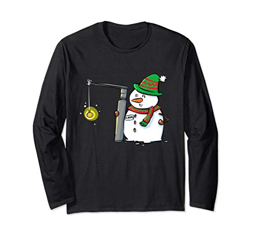 CRNA Snowman with Miller 2 Christmas Anesthesia Long Sleeve