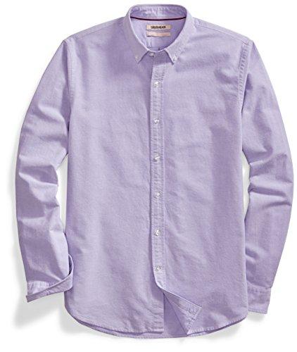 Purple Oxford - Goodthreads Men's Standard-Fit Long-Sleeve Solid Oxford Shirt, Purple, Medium
