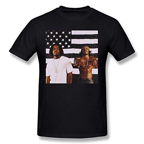 Men's OutKast American Flag T-Shirt Black - Kaka Tee