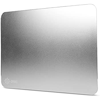 Aluminum Metal Gaming Mouse Pad XL by ENHANCE - Hard Mouse Surface , Non-Slip Rubber Base & High Accuracy Optimized Tracking for Apple Magic Mouse 2 , TeckNet M002 , Logitech M510 and Other Mice