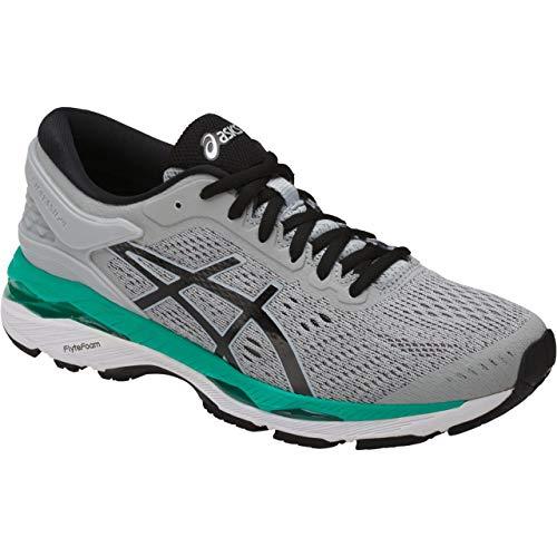 ASICS Womens Gel-Kayano 24 Running Shoe, Mid Grey/Black/Atlantis, 9 Medium US