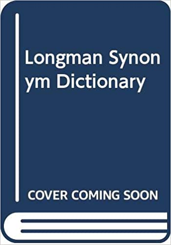 Longman Synonym Dictionary Longman 9780582893221 Amazon Com Books