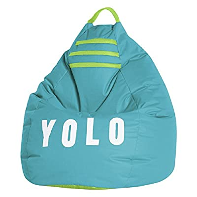 Sitting Point YOLO Green Fabric Extra Large Bean Bag