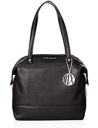 Zip Over Tote Bag, black