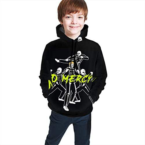 OSCAR CURTIS Unisex Kids Hoodies Sweaters Skeleton Cobra 3D Printed Pullover Clothes with Pocket for Teens