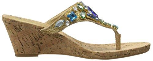White Mountain sandalias de mujer en llamas vestido Blue
