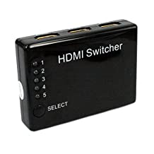 5 Port HDMI Switch with Remote