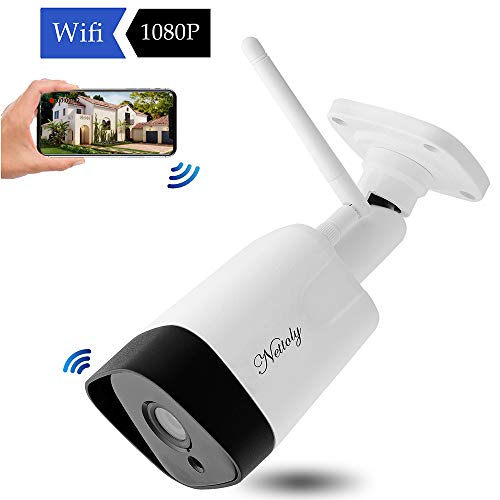 【2019 New Version】Nettoly Outdoor Wireless Security Camera, Waterproof WiFi  IP Camera With HD 1080P, Wide Angle Fish Eye Wireless Wifi Camera Home