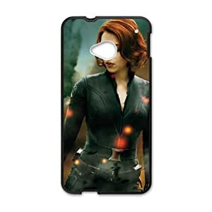 HTC One M7 Cell Phone Case Black Black Widow BNY_6963537