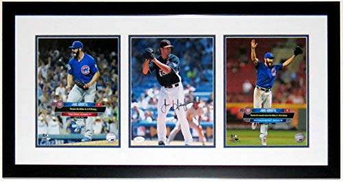 Jake Arrieta Autographed Signed Cubs 3 8x10 No Hitter Picture - JSA AuthenticatedCustom Framed ()