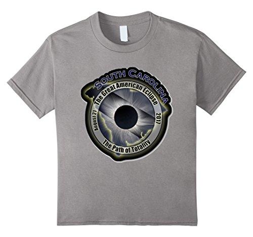 Kids Total Eclipse August 21 2017 South Carolina Totality Shirt 6 Slate ()