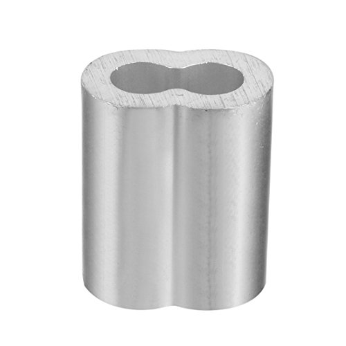 TOOGOO 20pcs 3/8 inch (10mm) Diameter Wire Rope Aluminum Alloy Sleeves Clip Fittings Cable Crimps by Toogoo (Image #3)