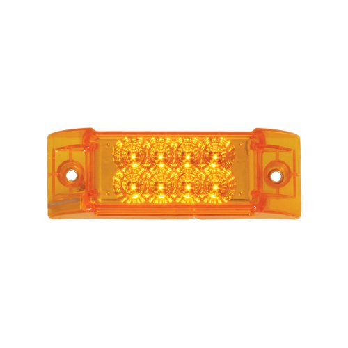 - Grand General 77660 Amber Rectangular Spyder 8-LED Marker and Clearance Sealed Light