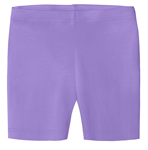 City Threads Big Girls Underwear Bike Shorts In All Cotton Perfect For SPD and Sensitive Skin Sports Dance School Uniform, Deep Purple 12