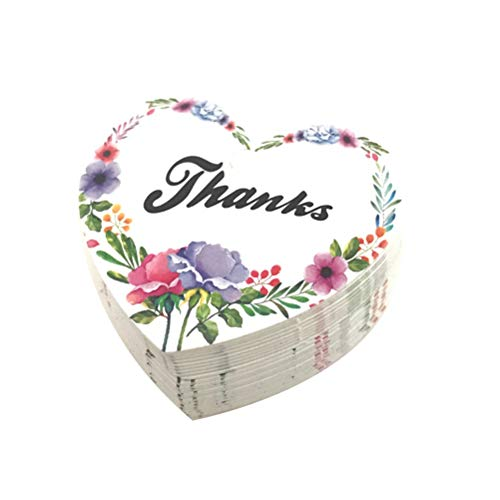 Amosfun 50PCS Baking Packaging Decorative Labels Flowers Garden Hanging Tags Biscuit Box Gift Packaging Decoration Without Rope ()