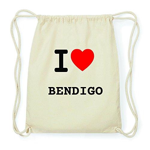 JOllify BENDIGO Hipster Turnbeutel Tasche Rucksack aus Baumwolle - Farbe: natur Design: I love- Ich liebe uEka9so