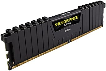 Corsair CMK8GX4M1A2400C16 Memory Kit Vengeance LPX 1 x 8GB, DDR4 Dram 2400MHz, Black