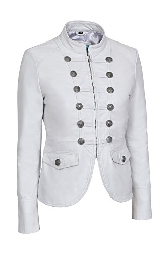 Victory Ladies White Military Parade Style Soft Real Nappa ...