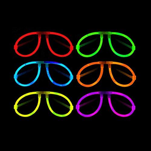 Pack de 50 gafas luminosas de colores neón