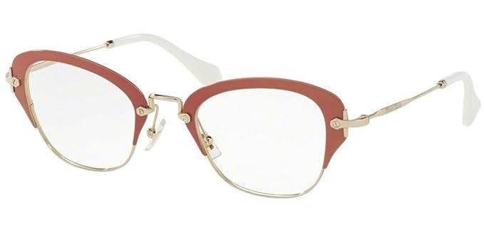 fd5455cc9de Eyeglasses Miu Miu MU 53OV VAC1O1 PINK at Amazon Men s Clothing store
