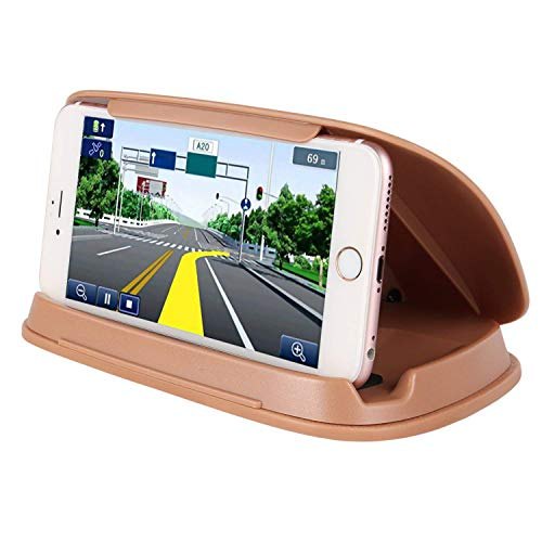 Bosynoy Phone Holder for Car, GPS Holder for Car Dashboard, Universal Car Phone Mount Compatible for Smart Cell Phones -Brown