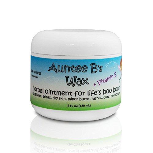 Auntee Bs Wax Vitamin E All Natural Herbal Cream   Eczema Cream, Psoriasis Cream, Rosacea Cream, Dermatitis Cream and Diaper Rash Cream   Gentle for Babies and Children, and for Severe Dry Skin (4 oz)
