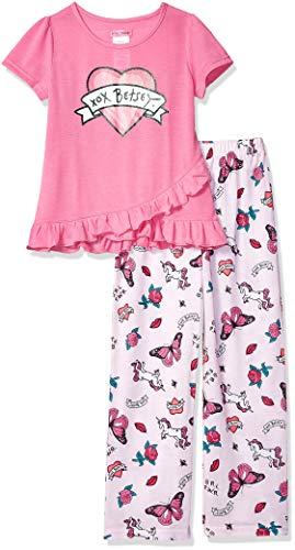 (Betsey Johnson Girls' Big 2 Piece Jersey Pajama Set, Sweet Dreams Large )