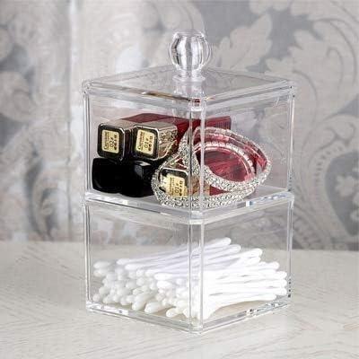 XWYSSH主催 綿コンテナ用化粧品ストレージボックスポータブルアクリル収納ボックス XWYSSH (色 : B)