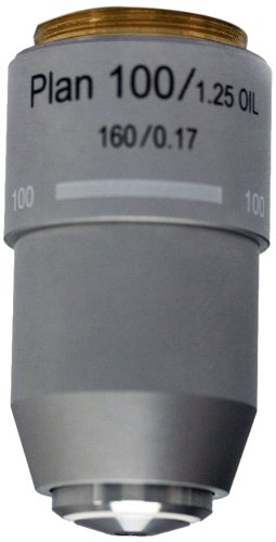 National Optical 799-160P 100XR DIN Plan Achromat Objective Lens, N.A. 1.25, For 160 Microscopes by National Optical