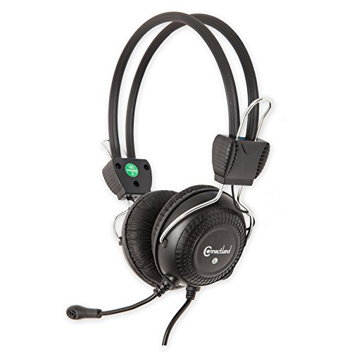 Connectland Multimedia Stereo Adjustable Headset with Boom Microphone 3.5 mm Connector headphone, CL-CM-5023