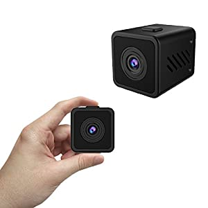 Kaisio Small Wifi Spy Camera with Wide Viewing Angle, 16.5 Feet Night Vision, Sensitive Motion Alert, 720p HD Hidden Cam for Home Security Office(Support 64G SD Card)