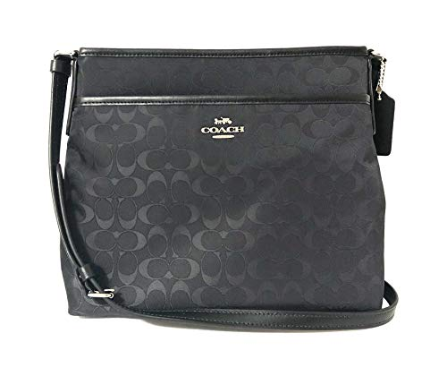 Coach File Crossbody In Signature Nylon Black