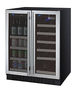 Allavino VSWB-2SSFN - 2 Door Wine Refrigerator/Beverage Center - SS Doors with Towel Bar Handles